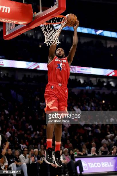 Khris Middleton of Team Giannis dunks the ball in the second quarter against Team LeBron during the 69th NBA AllStar Game at the United Center on...