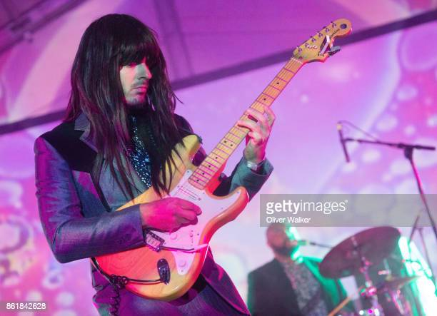 Khruangbin performs at Institute of Mentalphysics on October 15 2017 in Joshua Tree California