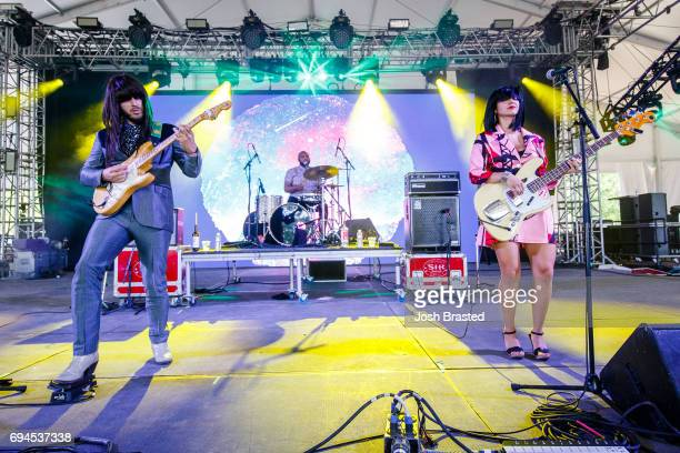 Khruangbin performs during the Bonnaroo Music Arts Festival on June 9 2017 in Manchester Tennessee