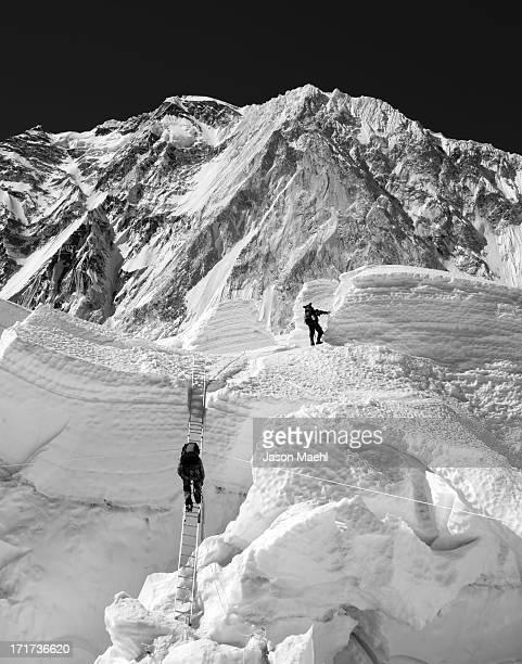 khumbu icefall - khumbu stock pictures, royalty-free photos & images