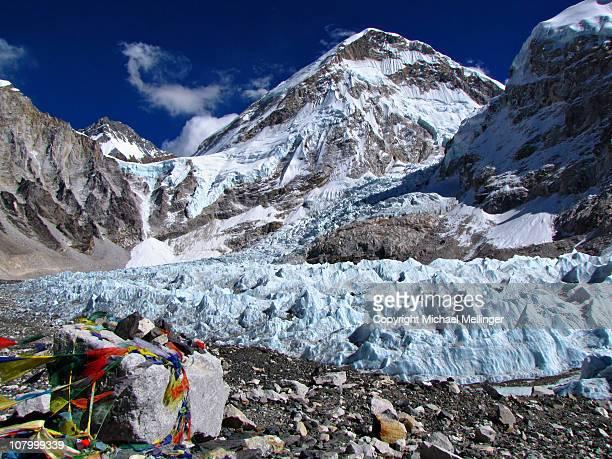 khumbu icefall-everest base camp-everest base camp - khumbu stock pictures, royalty-free photos & images