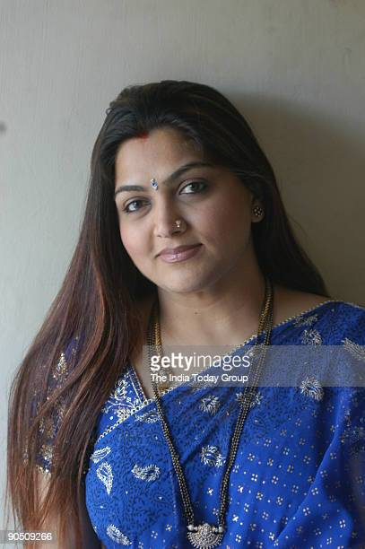 Khushboo actress at her residence in Chennai Tamil Nadu India