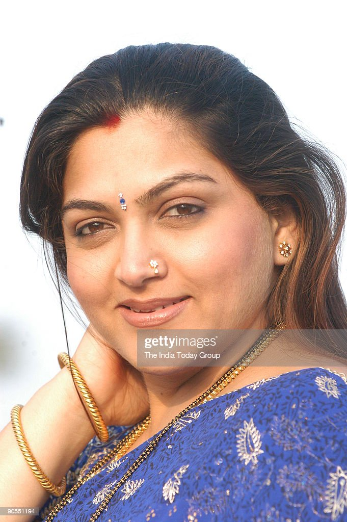 Khushboo, actress at her residence in Chennai, Tamil Nadu, India : News Photo