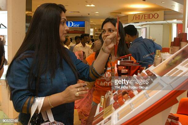 Khushboo actress at Lifestyle after Inauguratiing their New Showroom and India's largest retail store in Chennai Citicentre located on Dr...