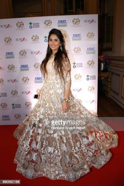 Khushi Singh Chaudhary attends Indian millionaire Sudha Reddy gives 135000 Euros to the Action Contre La Faim Breast Cancer Research Foundation at...