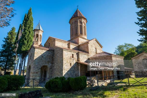 khvtaeba church and monastery complex at the territory of the ikalto monastery - 6th century bc stock photos and pictures
