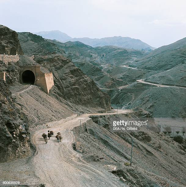 Khyber Pass the mountain pass linking Pakistan with Afghanistan