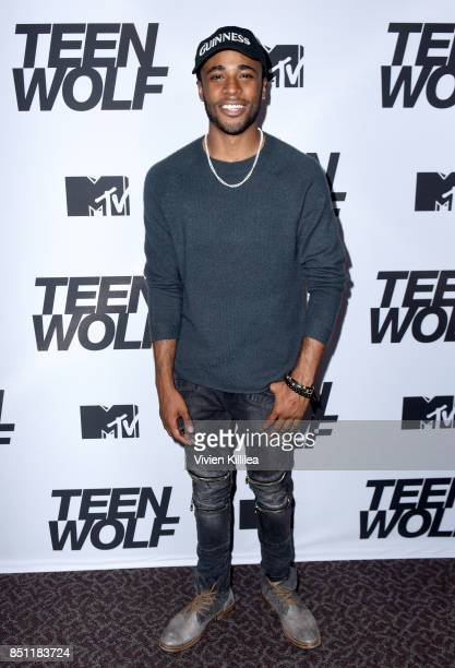 Khylin Rhambo at the MTV Teen Wolf 100th episode screening and series wrap party at DGA Theater on September 21 2017 in Los Angeles California