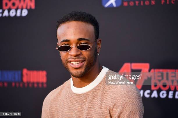 """Khylin Rhambo attends the LA Premiere of Entertainment Studios' """"47 Meters Down Uncaged"""" at Regency Village Theatre on August 13, 2019 in Westwood,..."""