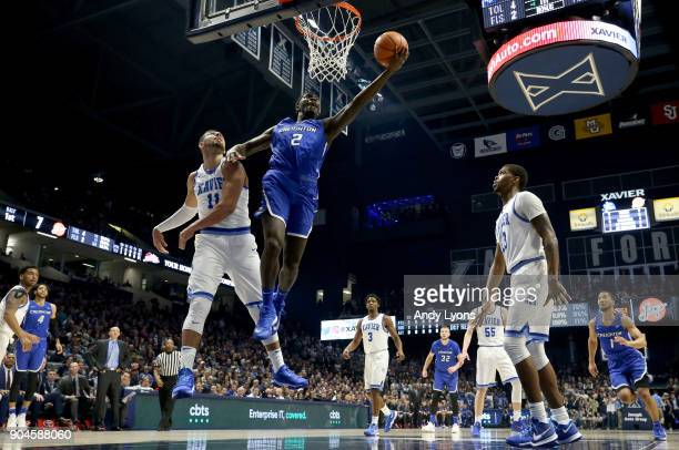Khyri Thomas of the Creighton Bluejays shoots the ball against the Xavier Musketeers at Cintas Center on January 13 2018 in Cincinnati Ohio
