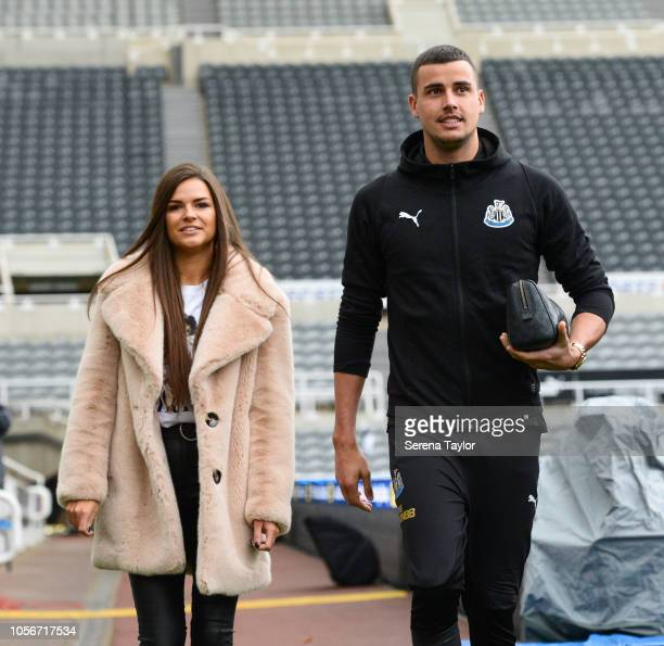 Ki Goalkeeper Karl Darlow of Newcastle United arrives for the Premier League Match between Newcastle United and Watford FC at StJames Park on...