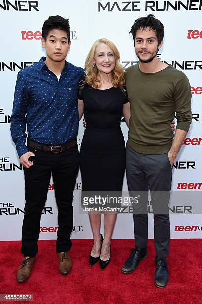 Ki Hong Lee Patricia Clarkson and Dylan O'Brien attend the 'Maze Runner' New York City screening hosted by Twentieth Century Fox and Teen Vogue at...