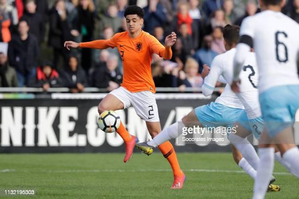 Ki Jana Hoever of Holland U17 during the match between Holland U17 v Israel U17 at the Sportpark Zegersloot on March 23 2019 in Alphen a/d Rijn...