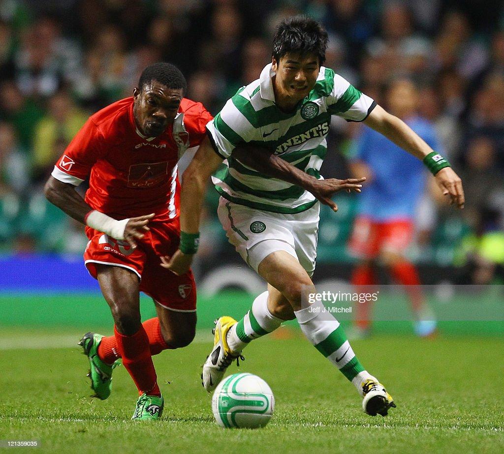 Celtic FC v FC Sion - UEFA Europa League Play-Off : News Photo