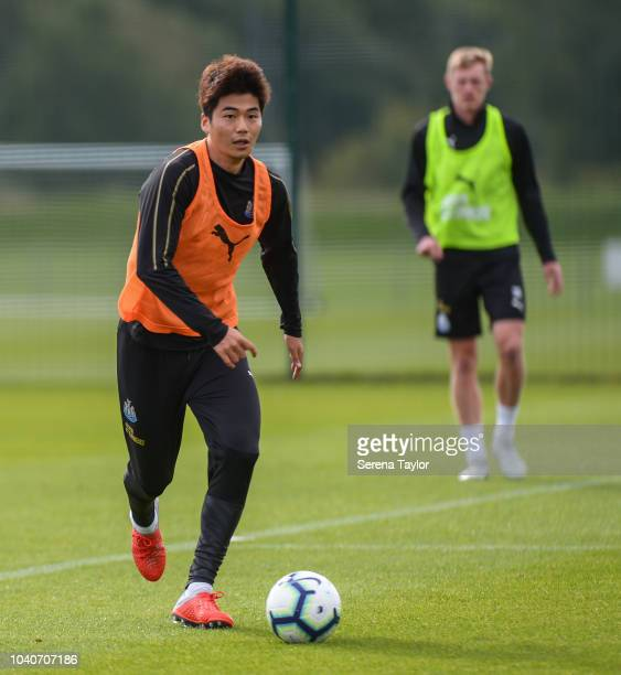 Ki Sungyueng during the Newcastle United Training Session at The Newcastle United Training Centre on September 26 in Newcastle upon Tyne England
