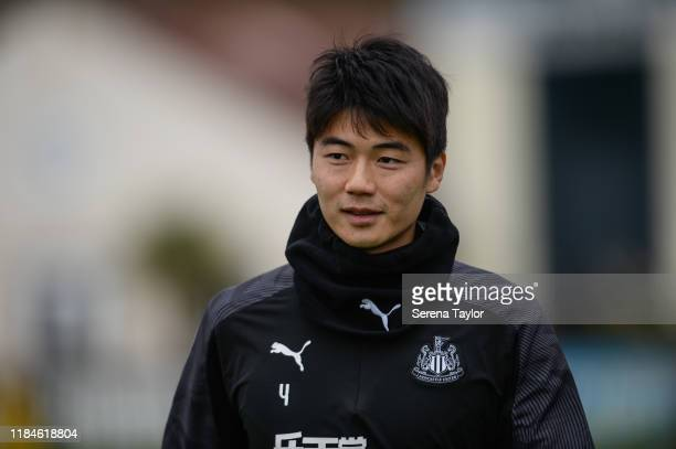 Ki Sung-Yueng during the Newcastle United Training Session at the Newcastle United Training Centre on October 31, 2019 in Newcastle upon Tyne,...