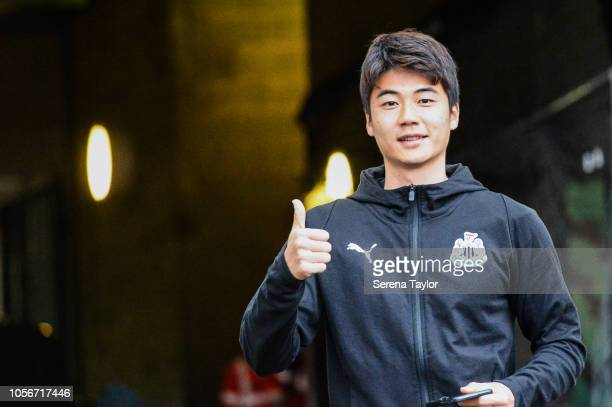 Ki Sungyueng of Newcastle United arrives for the Premier League Match between Newcastle United and Watford FC at StJames Park on November 3 in...