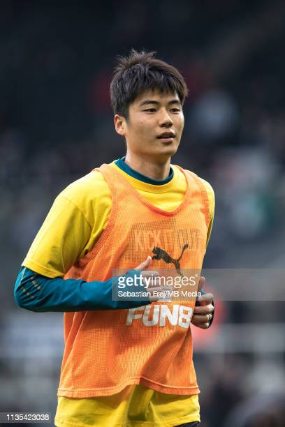 Ki Sungyueng of Newcastle United during the Premier League match between Newcastle United and Crystal Palace at St James Park on April 6 2019 in...