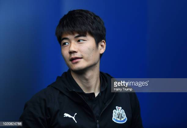 Ki SungYueng of Newcastle United looks on during the Premier League match between Cardiff City and Newcastle United at Cardiff City Stadium on August...