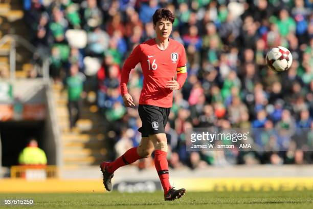 Ki SungYueng of South Korea during an International Friendly fixture between Northern Ireland and Korea Republic at Windsor Park on March 24 2018 in...