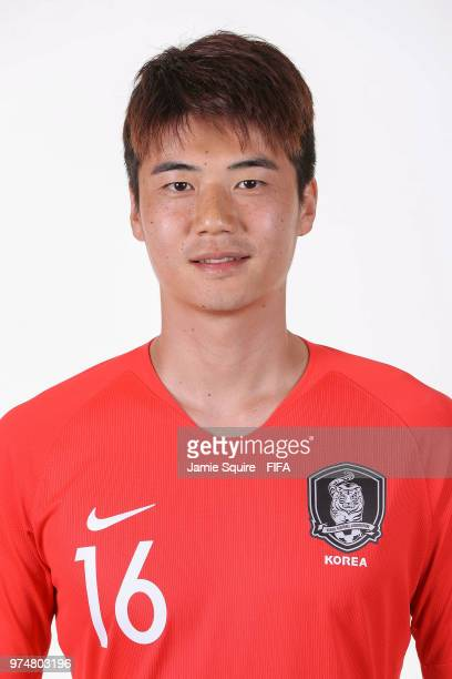 Ki SungYueng of South Korea poses during the official FIFA World Cup 2018 portrait session at on June 14 2018 in Saint Petersburg Russia