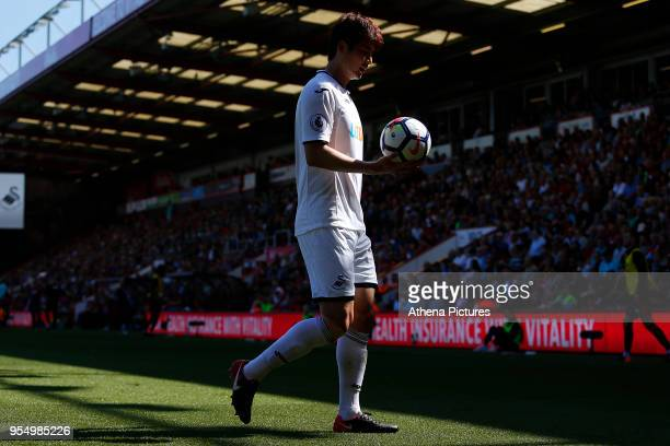 Ki Sungyueng of Swansea City during the Premier League match between AFC Bournemouth and Swansea City at Vitality Stadium on May 05 2018 in...