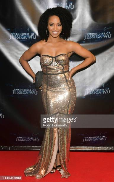 Kia Anderson attends the Chronicles of Jessica Wu Season 2 premiere at SAGAFTRA Foundation Screening Room on April 20 2019 in Los Angeles California