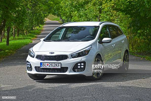 kia cee'd - compact car - kia stock pictures, royalty-free photos & images