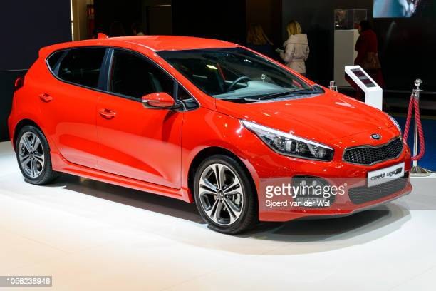 Kia Cee'd GT 5door compact hatchback car on display at Brussels Expo on January 13 2017 in Brussels Belgium The second generation Kia Cee'd or Kia...