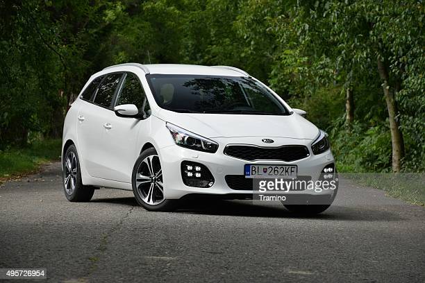 kia cee'd on the street - kia stock pictures, royalty-free photos & images