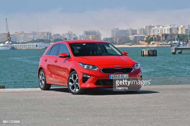 kia ceed on the street - kia stock pictures, royalty-free photos & images