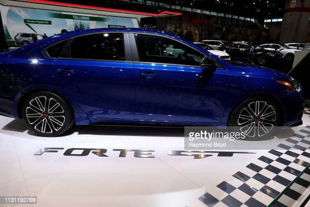 Kia Forte GT is on display at the 111th Annual Chicago Auto Show at McCormick Place in Chicago, Illinois on February 8, 2019.