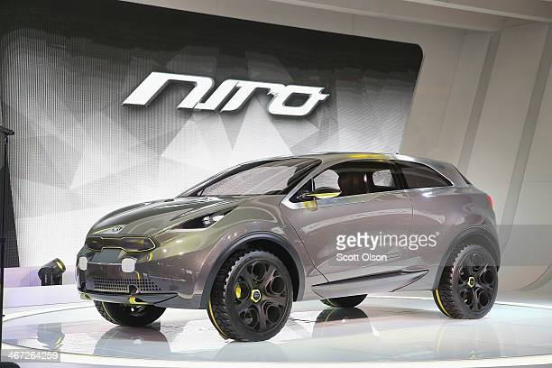 Kia introduces the Niro Concept vehicle at the Chicago Auto Show on February 6 2014 in Chicago Illinois The show which is oldest and largest in the...