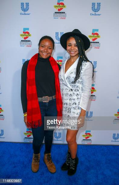 Kia Moses and Gabrielle Blackwood of Flight walks the blue carpet at the 5th Annual Bentonville Film Festival on May 10 2019 in Bentonville Arkansas