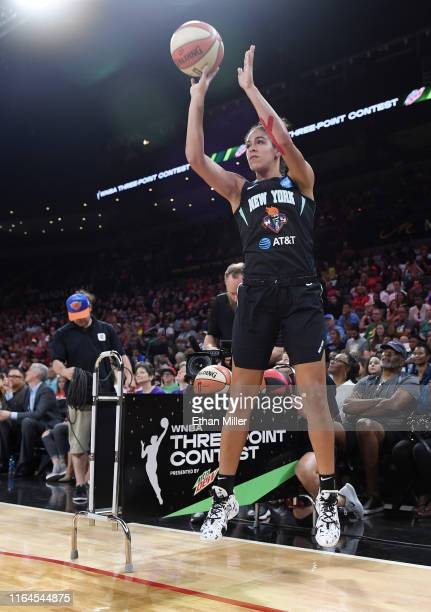 Kia Nurse of the New York Liberty competes during the 3-Point Contest of the WNBA All-Star Friday Night at the Mandalay Bay Events Center on July 26,...