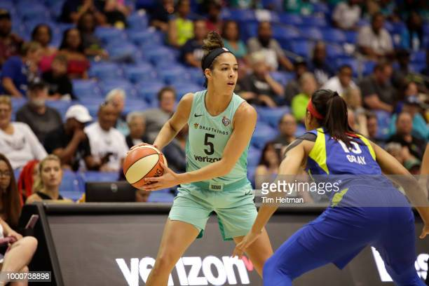 Kia Nurse of the New York Liberty handles the ball against the Dallas Wings on July 17 2018 at College Park Center in Arlington Texas NOTE TO USER...