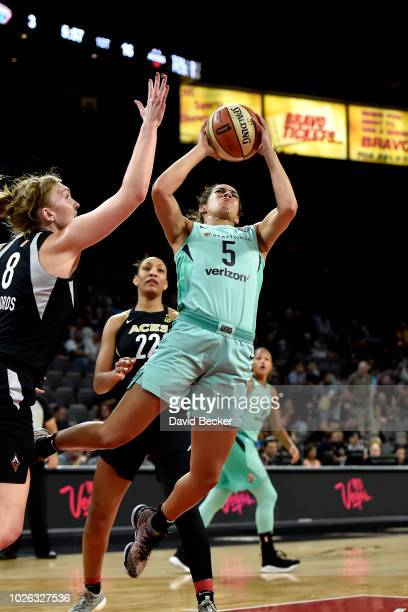 Kia Nurse of the New York Liberty shoots the ball against the Las Vegas Aces on August 15 2018 at the Allstate Arena in Chicago Illinois NOTE TO USER...