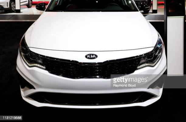 Kia Optima is on display at the 111th Annual Chicago Auto Show at McCormick Place in Chicago Illinois on February 8 2019 n