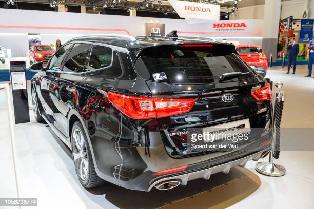 Kia Optima SW GT performance station wagon on display at Brussels Expo on January 13 2017 in Brussels Belgium The fourth generation of the Kia Optima...