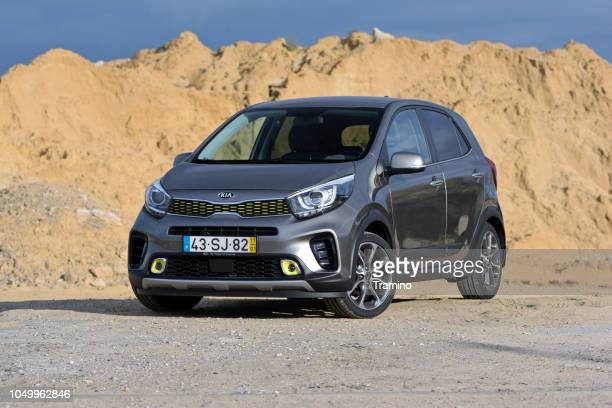 kia picanto x-line on the road - kia stock pictures, royalty-free photos & images
