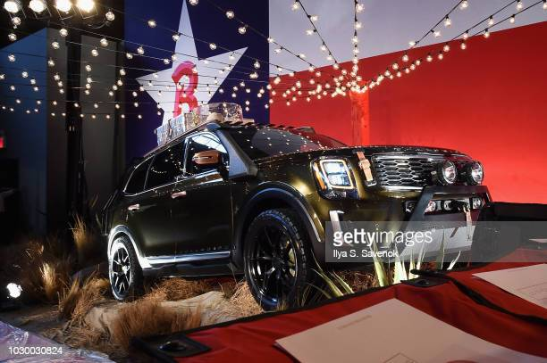 Kia previews all-new Telluride SUV on Brandon Maxwell's runway at New York Fashion Week at Classic Car Club Manhattan on September 8, 2018 in New...