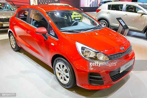 kia rio compact family car - kia stock pictures, royalty-free photos & images