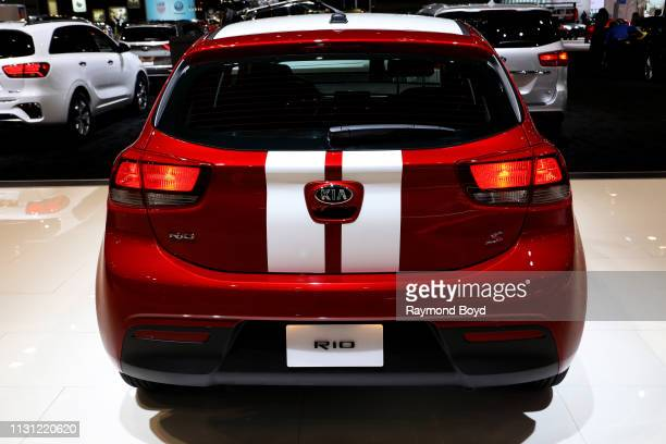 Kia Rio is on display at the 111th Annual Chicago Auto Show at McCormick Place in Chicago, Illinois on February 8, 2019.
