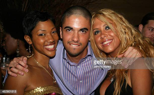 Kia Samuel DJ Cassidy and Samantha Cole during DJ Cassidy's 24th Birthday Party July 6 2005 at Butter in New York City New York United States