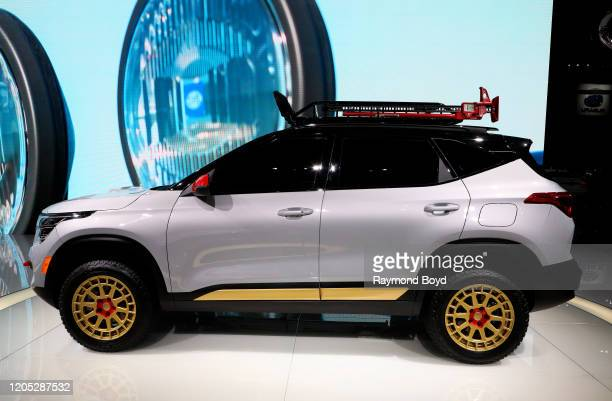 """Kia Seltos X-Line Urban Concept is on display at the 112th Annual Chicago Auto Show at McCormick Place in Chicago, Illinois on February 6, 2020. """"n"""
