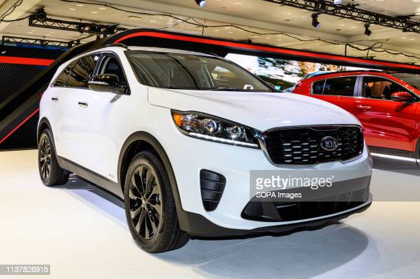 Kia Sorento AWD seen at the New York International Auto Show at the Jacob K. Javits Convention Center in New York.