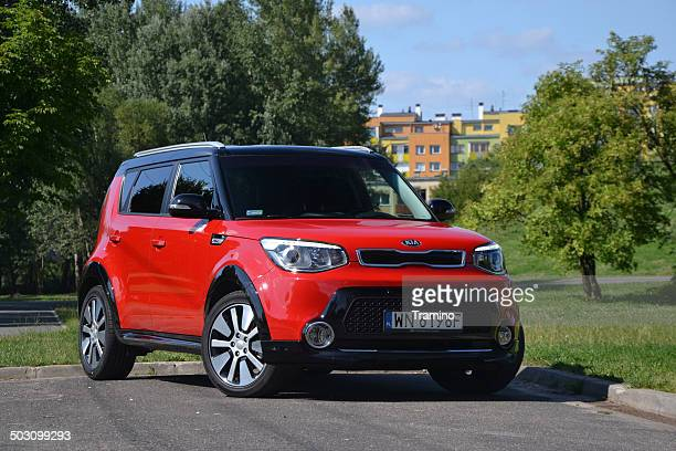kia soul at the test drive - kia stock pictures, royalty-free photos & images