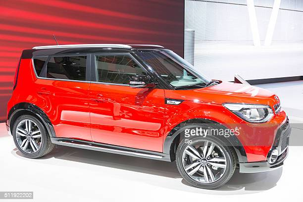 kia soul crossover compact car - kia stock pictures, royalty-free photos & images