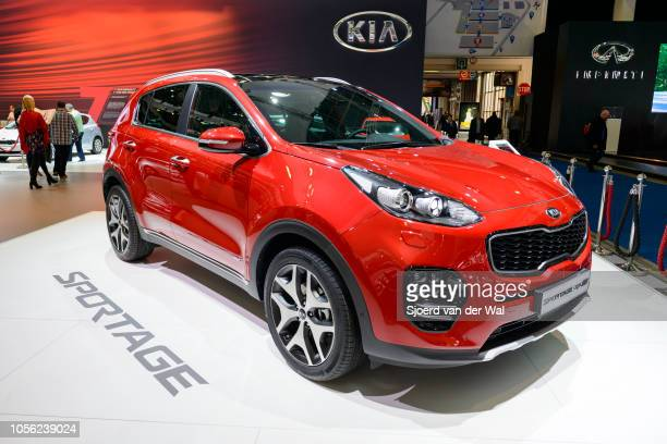 Kia Sportage compact sports utility vehicle on display at Brussels Expo on January 13 2017 in Brussels Belgium The fourth generation ofthe Kia...