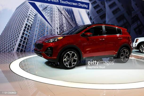 Kia Sportage is on display at the 111th Annual Chicago Auto Show at McCormick Place in Chicago, Illinois on February 8, 2019.
